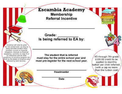 Referral Incentive Certificate