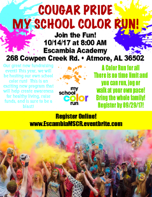 EA Flyer for Cougar Color Run